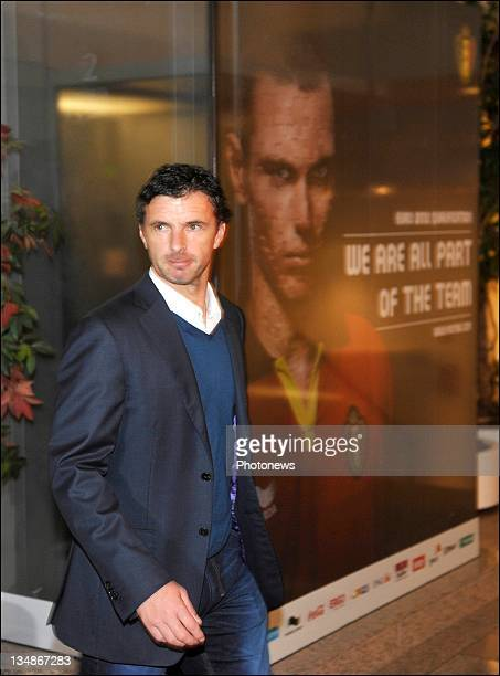 Gary Speed head coach of Wales arrives at the FIFA World Cup Group A Fixture Meeting on November 23 2011in BrusselsBelgium The Countries in group A...