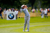 Gary Stal of France plays a shot during the BMW International Open day one at the Eichenried Golf Club on June 25 2015 in Munich Germany