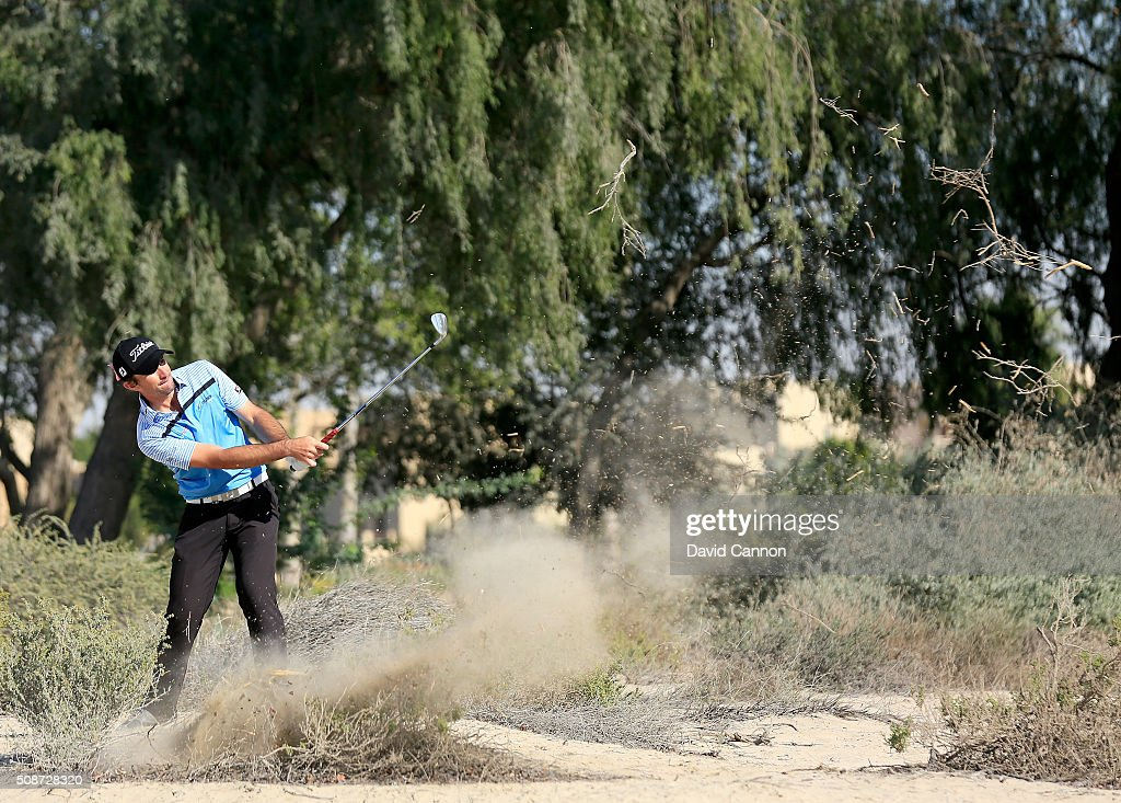 <a gi-track='captionPersonalityLinkClicked' href=/galleries/search?phrase=Gary+Stal&family=editorial&specificpeople=7865482 ng-click='$event.stopPropagation()'>Gary Stal</a> of France plays his second shot at the par 4, 14th hole during the third round of the 2016 Omega Dubai Desert Classic on the Majlis Course at the Emirates Golf Club on February 6, 2016 in Dubai, United Arab Emirates.