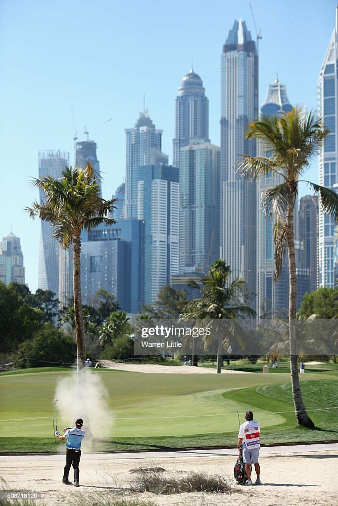<a gi-track='captionPersonalityLinkClicked' href=/galleries/search?phrase=Gary+Stal&family=editorial&specificpeople=7865482 ng-click='$event.stopPropagation()'>Gary Stal</a> of France plays on to the 12th green during the third round of the Omega Dubai Desert Classic at the Emirates Golf Club on February 6, 2016 in Dubai, United Arab Emirates.