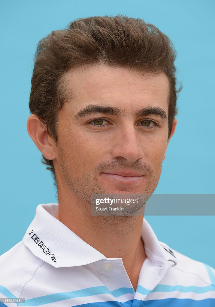 Gary Stal of France poses for a photograph during the first round of European Tour qualifying school final stage at PGA Catalunya Resort on November 10, 2013 in Girona, Spain.