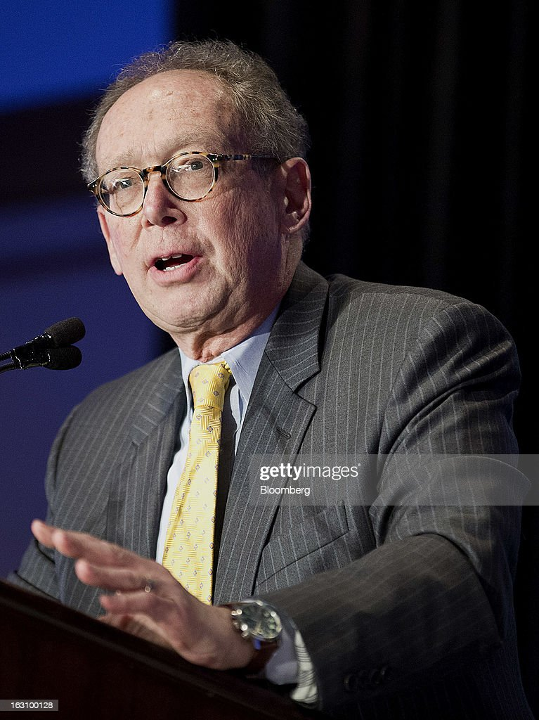 "Gary Stern, former chief executive officer of the Federal Reserve Bank of Minneapolis, speaks at the National Association of Business Economics (NABE) 2013 Economic Policy Conference in Washington, D.C., U.S., on Monday, March 4, 2013. Key U.S. monetary and fiscal policymakers will gather to discuss this year's conference theme: ""Global Challenges, Domestic Choices: Options for Economic Policy."" Photographer: Joshua Roberts/Bloomberg via Getty Images"