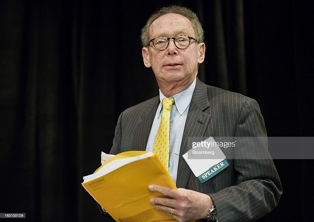 "Gary Stern, former chief executive officer of the Federal Reserve Bank of Minneapolis, arrives to speak at the National Association of Business Economics (NABE) 2013 Economic Policy Conference in Washington, D.C., U.S., on Monday, March 4, 2013. Key U.S. monetary and fiscal policymakers will gather to discuss this year's conference theme: ""Global Challenges, Domestic Choices: Options for Economic Policy."" Photographer: Joshua Roberts/Bloomberg via Getty Images"