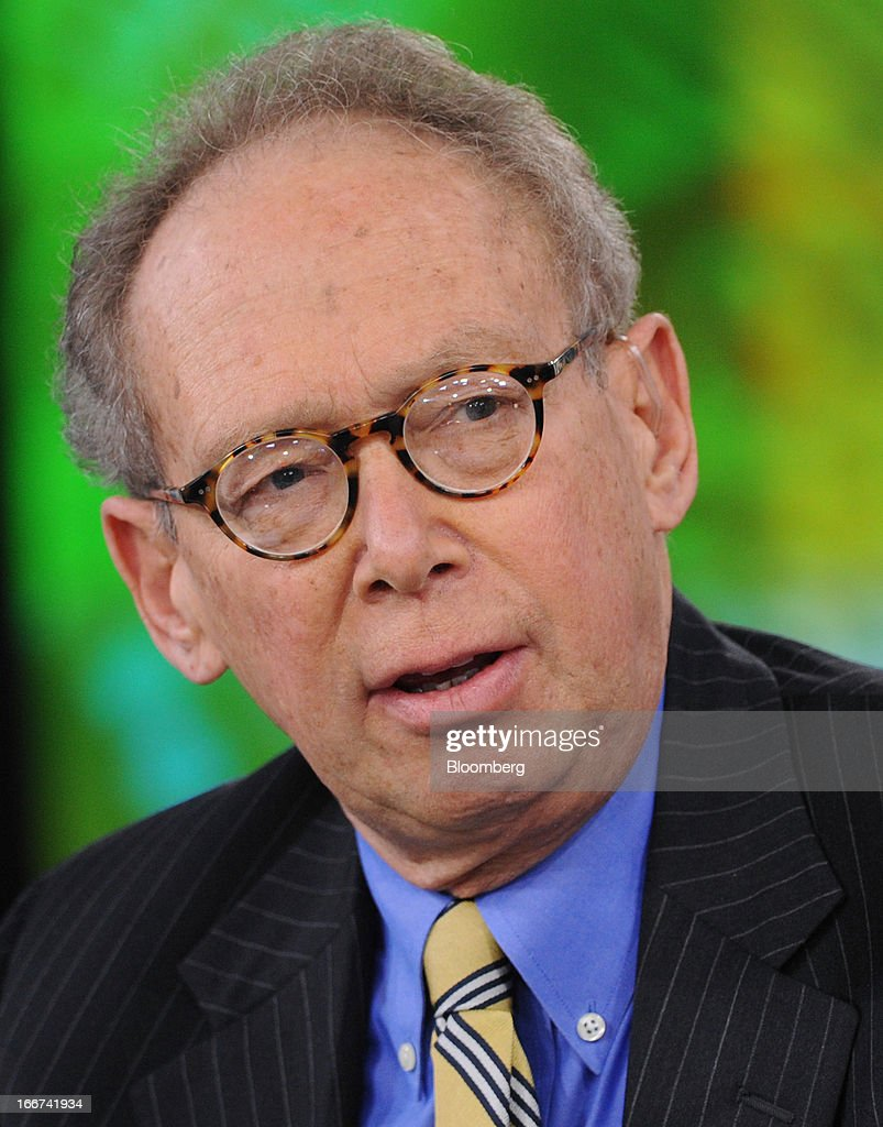 Gary Stern, former chief executive officer of the Federal Reserve Bank of Minneapolis, speaks during a Bloomberg Television interview in New York, U.S., on Tuesday, April 16, 2013. Stern discussed Federal Reserve policy and a possible successor to Fed Chairman Ben S. Bernanke. Photographer: Peter Foley/Bloomberg via Getty Images