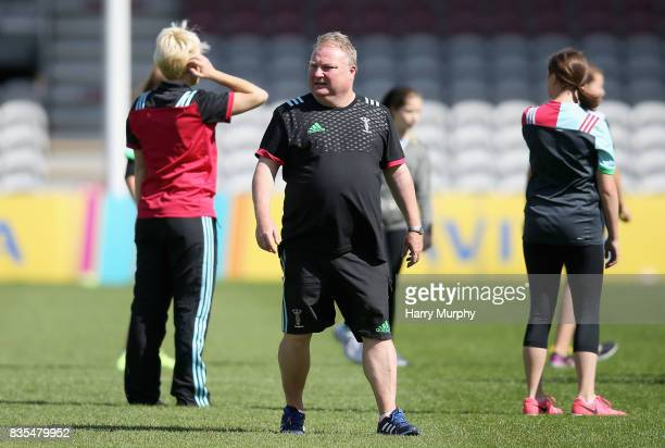 Gary Street joint head coach of Harlequins Ladies looks on during the Harlequins Photocall at The Stoop on August 19 2017 in London England