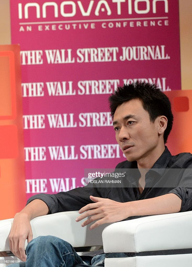 Gary Wang, founder of Tudou.com attends the Wall Street Journal Unleashing Innovation executive conference held at Capella Singapore, Sentosa Island in Singapore on February 20, 2013. The conference which is the being held for the first time from February 19-21 in Singapore is attended by global leaders from business, government and academia with expertise in information technology, biotechnology and clean tech, to provide practical advice on strategies to drive innovation in organisations. AFP PHOTO / ROSLAN RAHMAN