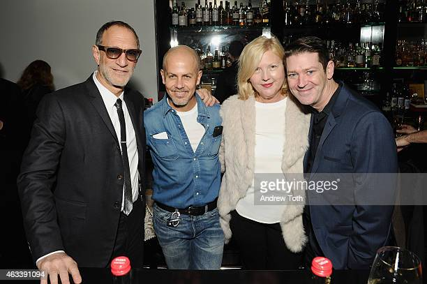 Gary Wassner designer Italo Zucchelli Brandusa Niro and Eddie Roche attend The Daily Front Row's 2015 Model Issue reception during New York Fashion...