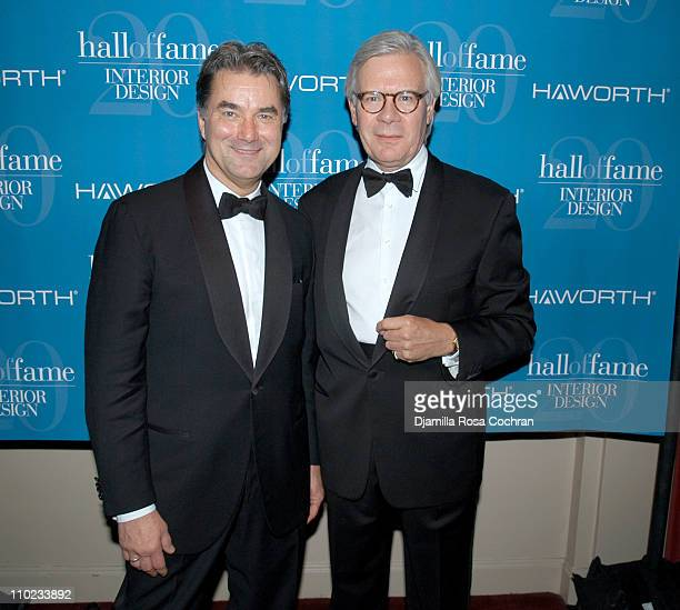 Gary Wheeler And Anthony Harbour During Interior Design Magazine Hall Of Fame At Waldorf Astoria Hotel