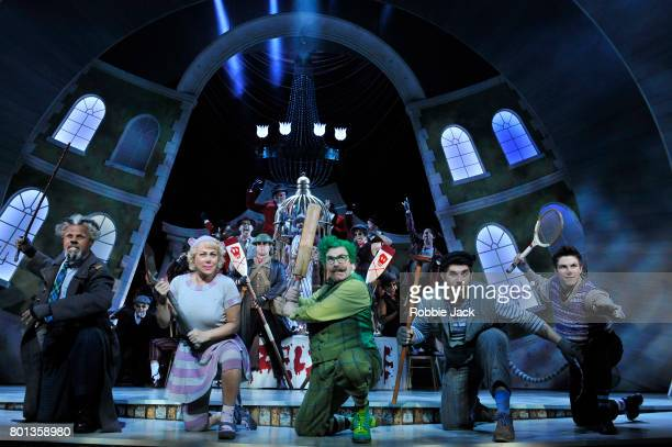 Gary Wilmot as Badger Denise Welch as Mrs Otter Rufus Hound as Mr Toad Simon Lipkin as Rat and Craig Mather as Mole with artists of the company in...