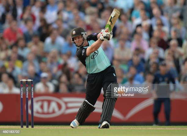 Gary Wilson of Surrey batting during the NatWest T20 Blast match between Surrey and Essex Eagles at The Kia Oval on June 6 2014 in London England