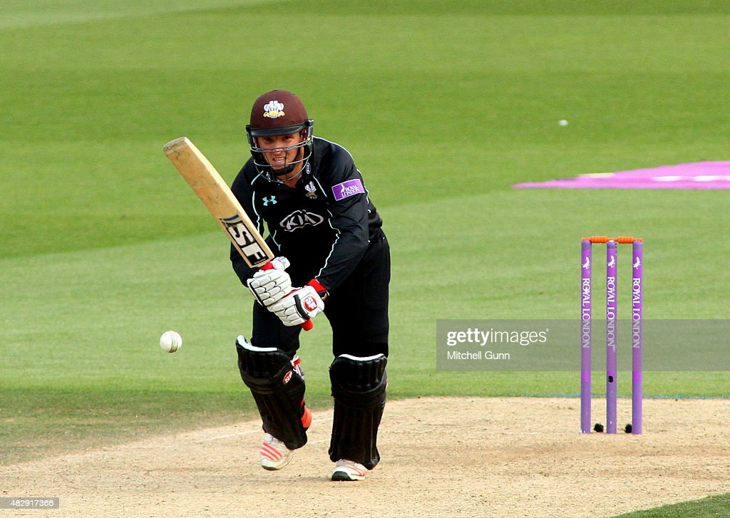Gary Wilson of Surrey batting during the Royal London One Day Cup match between Surrey and Worcestershire at the Kia Oval Cricket Ground on August 04...