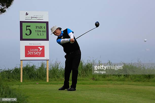 Gary Wolstenholme of England in action during the final round of the Acorn Jersey Open played at La Moye Golf Club on June 11 2016 in St Helier Jersey