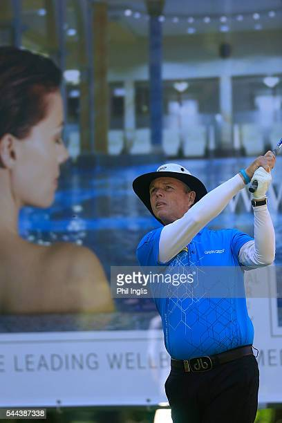 Gary Wolstenholme of England in action during the final round of the Swiss Seniors Open played at Golf Club Bad Ragaz on July 3 2016 in Bad Ragaz...