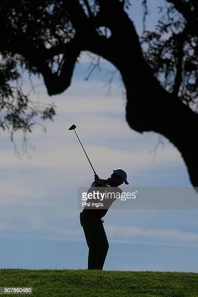 Gary Wolstenholme of England in action during the first round of European Senior Tour Qualifying School Finals played at Pestana Resort Vale da Pinta...