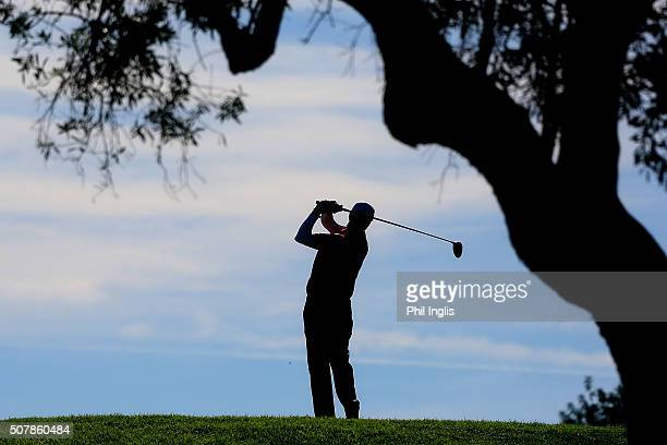 Gary Wolstenholme of England in action during the first round of European Senior Tour Qualifying School Finals played at Pestana Resort Vale da Pinta...