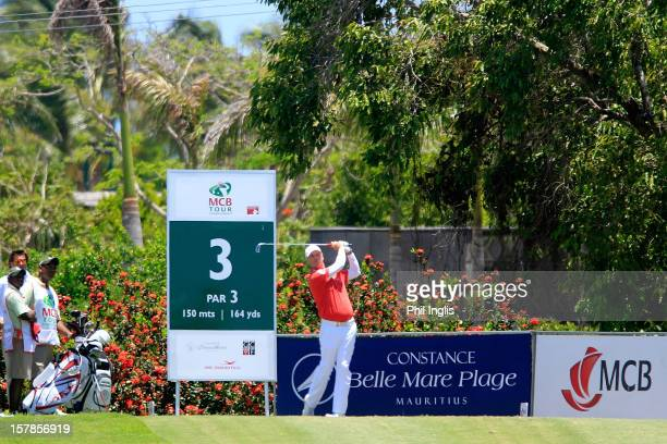 Gary Wolstenholme of England in action during the first round of the MCB Tour Championship played at the Legends Course Constance Belle Mare Plage on...