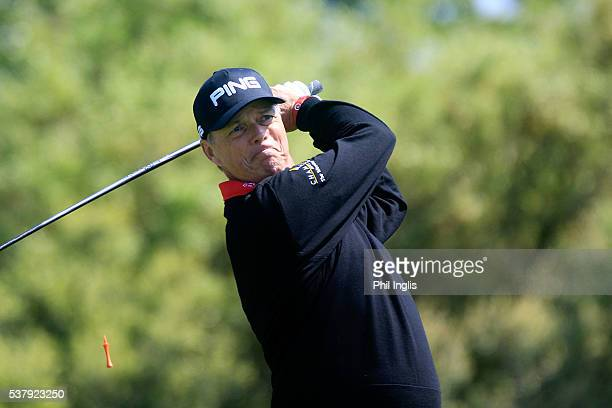 Gary Wolstenholme of England in action during the first round of the SSE Enterprise Wales Senior Open played at the Roman Course Celtic Manor Resort...