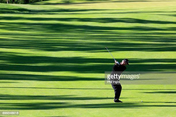 Gary Wolstenholme of England in action during the first round of the European Tour Properties Senior Classic played at Linna Golf on June 21 2017 in...