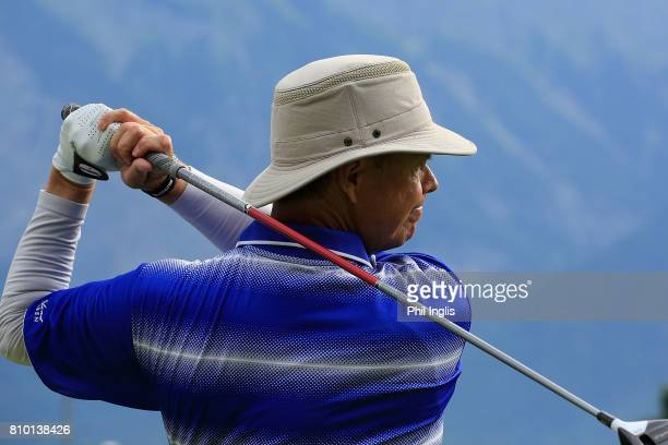 Gary Wolstenholme of England in action during the first round of the Swiss Seniors Open played at Golf Club Bad Ragaz on July 7 2017 in Bad Ragaz...