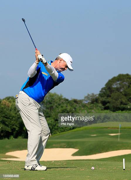 Gary Wolstenholme of England in action during the second round of the Fubon Senior Open played at Miramar Golf and Country Club on November 10 2012...