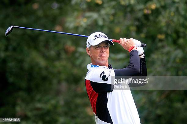 Gary Wolstenholme of England in action during the second round of the French Riviera Masters played at Terre Blanche Hotel Golf Spa Resort on October...
