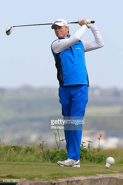 Gary Wolstenholme of England in action during the second round of the Acorn Jersey Open played at La Moye Golf Club on June 5 2015 in St Helier Jersey
