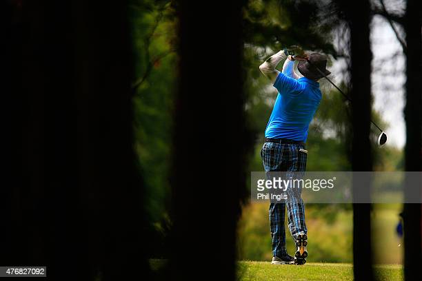 Gary Wolstenholme of England in action during the second round of the ISPS Handa PGA Seniors Championship played at the Lee Westwood Colt Course...
