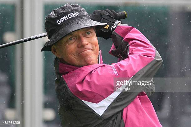Gary Wolstenholme of England in action during the second round of the Senior Open Championship played at The Old Course Sunningdale Golf Club on July...