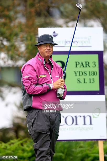 Gary Wolstenholme of England in action during the second round of the Acorn Jersey Open played at La Moye Golf Club on June 10 2016 in St Helier...