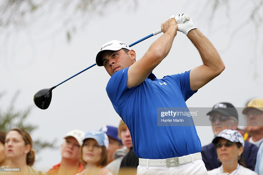 Gary Woodland hits his tee shot on the third hole during the final round of the Waste Management Phoenix Open at TPC Scottsdale on February 3, 2013 in Scottsdale, Arizona.