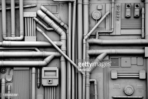 Gas und Öl Rohre Hintergrund