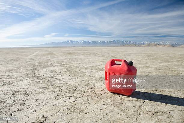 A gas can in the desert