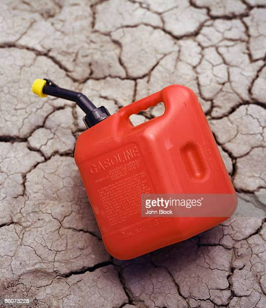 Gas can on cracked land