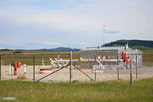 Gas Compressor Station In Agricultural Setting