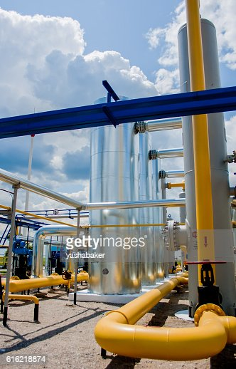 Gas compressor station in Ukraine : Stock-Foto