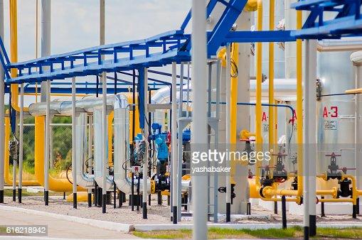 Gas compressor station in Ukraine : Photo