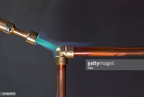 Flamme de gaz chauffage passepoil en cuivre