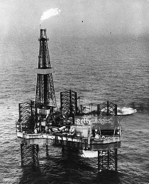 A gas flare on Shell UK Exploration and Production Ltd's North Sea rig Neptune 1 where a major gas find has been announced The flare is necessary for...