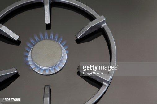 Gas hob alight