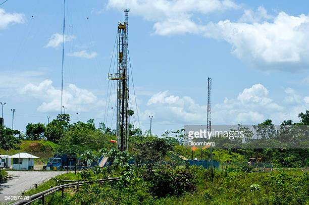 Gas is flared off from an oil drilling rig near Yasuni National Park in Orellana Province Ecuador on Tuesday Oct 13 2009 Ecuador is seeking about $3...
