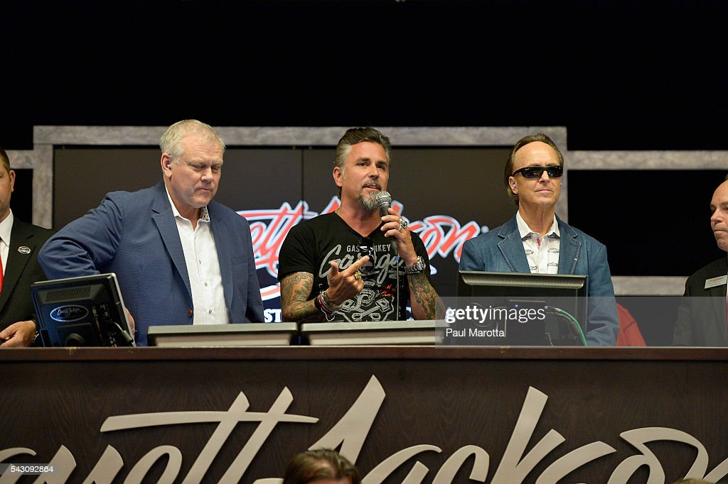 Gas Monkey Garage's Richard Rawlings attends the Barrett-Jackson Inaugural Northeast Auction at Mohegan Sun Arena on June 25, 2016 in Uncasville, Connecticut. Organizers estimated app. 70,000 vistors attended the three day auction June 23-25 during which hundreds of collectors were sold at auction.