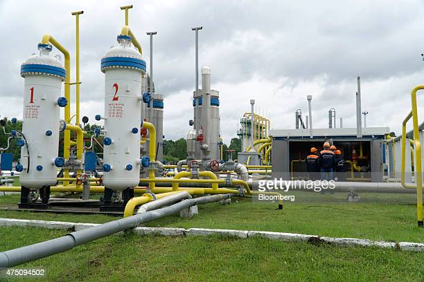 Gas pipes and compressor machinery stand at the Dashava underground gas storage facility operated by UkrTransGaz a unit of NAK Naftogaz Ukrainy in...