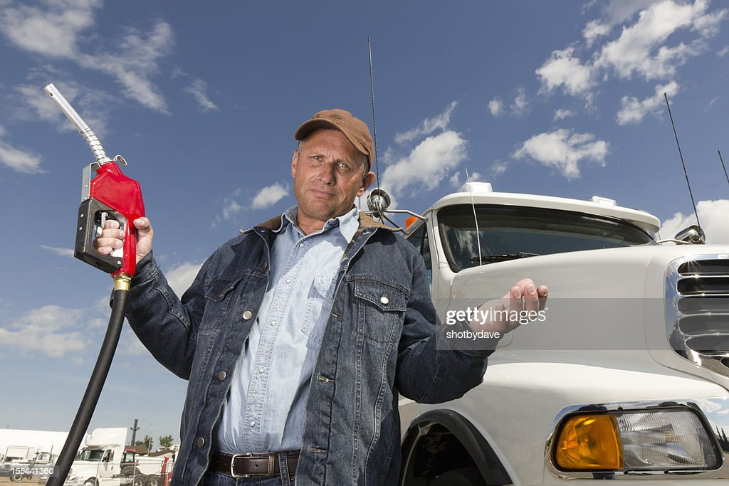 Gas Price Frustration : Stock Photo