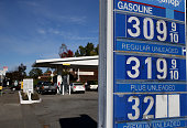 Gas prices are displayed at a Gas Shop gas station on October 27 2014 in San Anselmo California Gas prices have fallen to their lowest level in four...