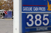 Gas prices are displayed at a gas station on October 15 2014 in San Francisco California According to AAA the average retail price of gasoline has...