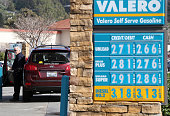 Gas prices are displayed at a Valero gas station on February 9 2015 in San Rafael California After weeks of decline in price gas prices have...