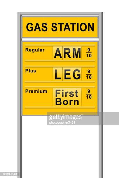 Prix du carburant prix un bras et les jambes
