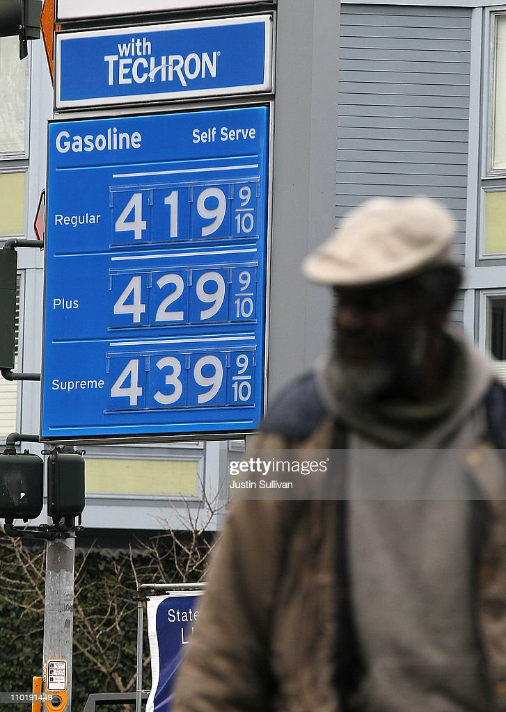 Gas prices over $4.00 a gallon are displayed at a Chevron gas station on March 16, 2011 in San Francisco, California. Wholesale prices in the United States spiked last month with a 3.3% rise in energy prices and a 3.9% jump in food prices.