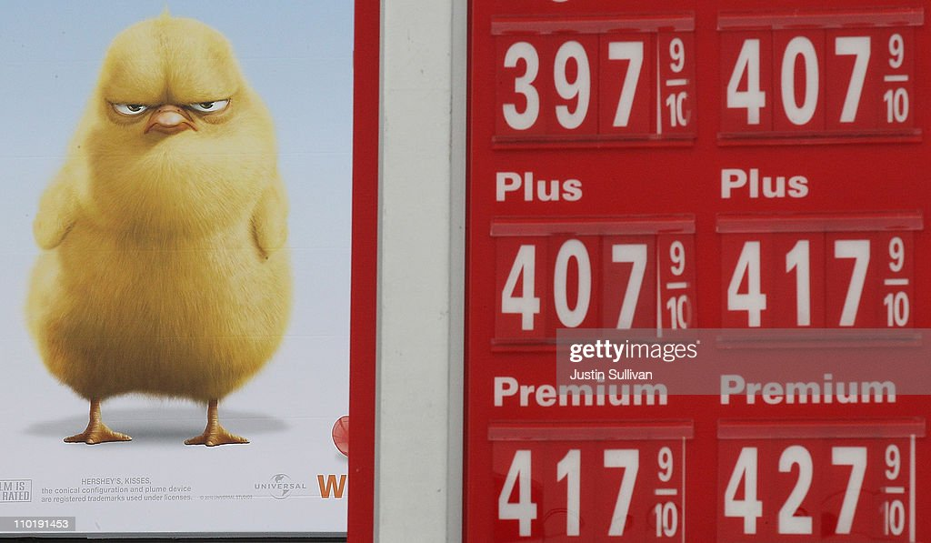 Gas prices over $4.00 a gallon are displayed at a gas station on March 16, 2011 in San Francisco, California. Wholesale prices in the United States spiked last month with a 3.3% rise in energy prices and a 3.9% jump in food prices.