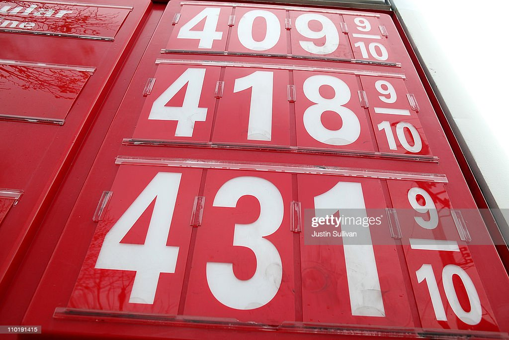 Gas prices over $4.00 a gallon are displayed at a Union 76 gas station on March 16, 2011 in San Francisco, California. Wholesale prices in the United States spiked last month with a 3.3% rise in energy prices and a 3.9% jump in food prices.